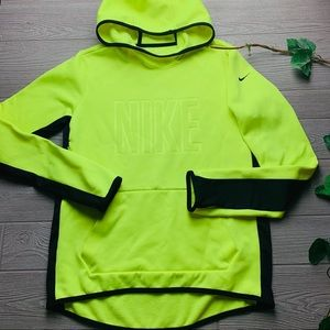 ✔️Nike therma fit neon yellow pullover hoodie ✔️